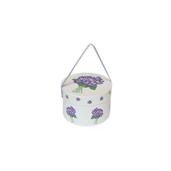 BIG HAT BOX 180 GR SUGAR COATED VIOLET FLOWERS