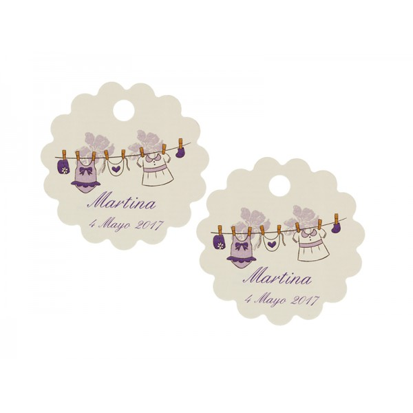 GIRL CHRISTENING CARD WAVES