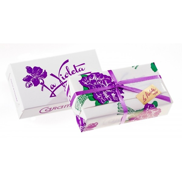 SIMPLE BOX 50 GR SUGAR COATED VIOLET FLOWER