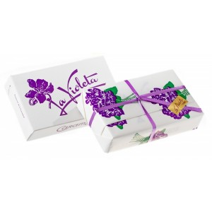 SIMPLE BOX 100 GR SUGAR COATED VIOLET FLOWER