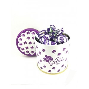 TIN 250 GR VIOLET LIQUOR CANDIES