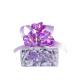 CLEAR SMALL SQUARE BOX 65 GR VIOLET CANDIES