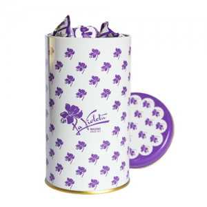 DELUXE TIN 400 GR VIOLET LIQUOR CANDIES